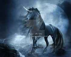 Black Unicorn by ThelemaDreamsArt on DeviantArt