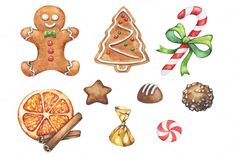 Christmas Watercolor Goods by Imaginasty on @creativemarket