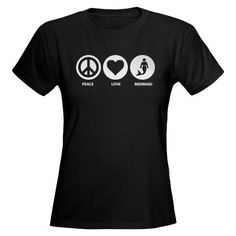 """""""Peace, Love, Mermaid"""" T-Shirt"""