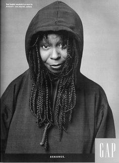 Whoopi Goldberg (born Caryn Elaine Johnson; November 13, 1955) Photo by Annie Leibovitz for Gap.
