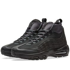 Buy the Nike Air Max 95 Sneakerboot in Black & Anthracite from leading mens fashion retailer END. - only Fast shipping on all latest Nike products Mens Boots Fashion, Sneakers Fashion, Fashion Men, Fashion Outfits, Air Max 95 Boots, Air Max 90, Nike Air Max, Men's Shoes, Nike Shoes