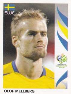 Olof Mellberg of Sweden. 2006 World Cup Finals sticker. 2006 World Cup Final, Panini Sticker, E Bay, Character Inspiration, Sweden, Germany, Baseball Cards, Stickers, Finals