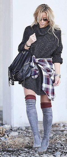With Over-the-Knee Boots