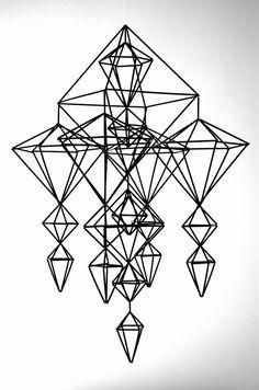 schwarzen LOUNA Himmeli / mobile von HannaKaisaKdesign auf Etsy