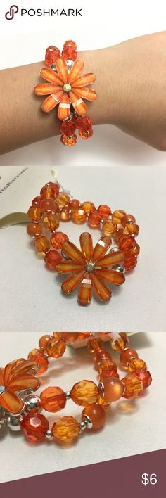 Sparkly Flower 2-Stranded Beaded Bracelet Plastic material. Stretchy. 2 strands.  Made in CHINA Brand: Croft&Barrow Condition: brand new  ➡️Reasonable offers accepted. ➡️Please ask any questions. croft & barrow Jewelry Bracelets