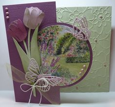 Marianne Design, Diy And Crafts, Wreaths, Frame, Card Ideas, Decor, Cards, Tulips, Picture Frame