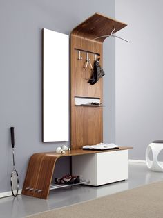 If you are looking for modern foyer furniture ideas, look no further than Sudbrock. Sudbrock produces quality, contemporary foyer furniture that is practical, functional and may we add, also. Modern Hall Trees, Modern Hallway, Modern Entry, Foyer Design, House Design, Hallway Unit, Hallway Storage, Entryway Bench, Closet Bench