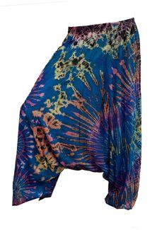 Women's Colorful Thai Harem Pants by AsianCraftShop