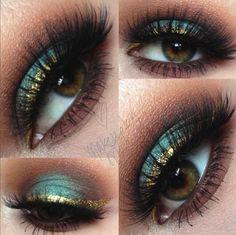 This makeup look using our Precious Metal Liquid Liner in 18 Karat is just stunning : @makeupbymaci