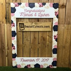Our Customers Love Fl Selfie Frames They Are A Huge Hit Check Out Etsy For More Designs Www Socialcutouts