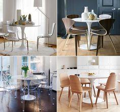 Come abbinare le sedie giuste al tavolo tulip blog for Sedie per tavolo tulip