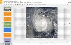 graph paper over an image in Google Slides Google graph paper
