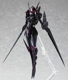 """""""Take up your sword and the flames shall rise!"""" From the popular anime 'Accel World' comes a figma of Kuroyukihime's Duel Avatar, 'Black Lotus'! Using the smooth yet poseable joints of figma, you can act out a var. Character Concept, Character Art, Character Design, Accel World, Robot Girl, Robot Concept Art, Anime Figurines, Kill La Kill, Popular Anime"""