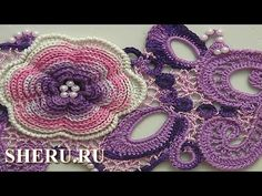 Learn how to crochet project in Irish Lace. With video tutorial, you will learn how to make such adorable crochet project on Irish Lace technique. Freeform Crochet, Crochet Art, Crochet Motif, Crochet Crafts, Crochet Flowers, Crochet Stitches, Crochet Projects, Crochet Vintage, Irish Crochet Patterns