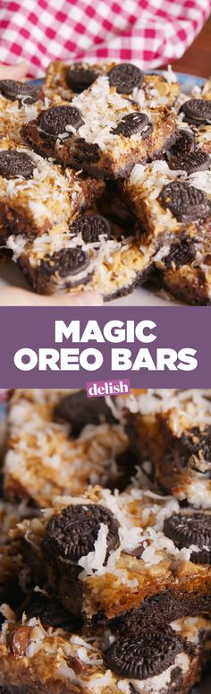 There's a reason why these are called Oreo magic bars. Get the recipe on Delish.com.