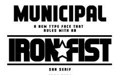 Municipal Free Type Face