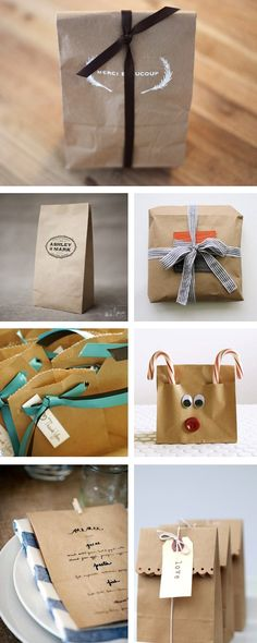 THINGS WE LOVE: BROWN PAPER BAGS AT LOVELY LITTLE PARTIES