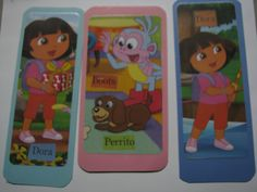 Assortment of Dora the Explorer Die Cuts-can be used in Scrapbooking, made into a book marker.. Use your imagination- the uses are endless!! by ScrapPantry, $4.00 USD