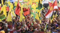 """Kurden demonstrieren in Köln: """"Erdogan, du Mörder"""""""