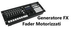 centralina DMX Move Controller 512 PRO generatore Fx e fader motorizzati