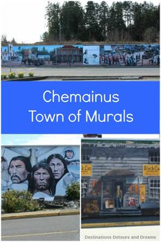 """Chemainus, British Columbia, a charming waterfront town on Vancouver Island is known as the """"Town of Murals"""" Best Street Art, Amazing Street Art, Solo Travel, Travel Tips, Travel Guides, Travel Destinations, Western Landscape, Canadian Travel, Original Travel"""