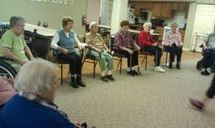 Residents of this Assisted Living facility enjoy participating in the Live 2 B Healthy Senior Fitness classes 3 times a week.