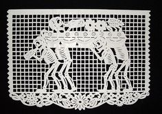Another paper cut Day of the Dead scene by http://bibliodyssey.blogspot.com/2008/12/day-of-dead-papercuts.html