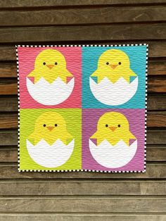 Chickadee Block Pattern by Corinne Sovey | Fabric: Riley Blake Designs Confetti Cotton Fabric Design, Pattern Design, Riley Blake, Pattern Blocks, Quilting Projects, Easter, Kids Rugs, Quilts, Sewing