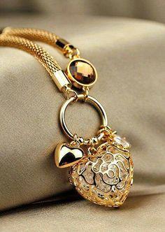 ~ lovely in Gold heart #Bracelet ~
