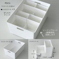 No photo description available. Muji Storage, Make Up Organiser, Daiso, 3d Prints, Tidy Up, Konmari Method, Bed & Bath, Housekeeping, Storage Organization