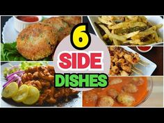 6 SIDE DISHES by (YES I CAN COOK) #SideDishes #Snacks #Simplefood #FriedChicken #TawaChicken #Kabab - YouTube Indian Food Recipes, Yummy Recipes, Indian Foods, Yummy Food, Ethnic Recipes, Cooking Recipes In Urdu, Yes I Can, South Indian Food