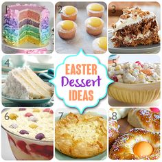 Lots of Dessert Ideas for the Easter Table! Best Carrot Cake, Coconut Cake, Ambrosia Salad, Italian Easter Pie, Easter Bread, Meyer Lemon Cupcakes!