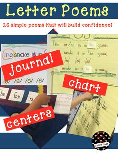 26 simple poems for the primary learner. Poems are great for shared reading, poetry journals, and centers. Each poem helps promote the basic fundamentals of reading. Creating confidence in the early grades is so important!