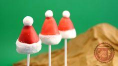 Cake Pop gorro de Papa Noel o Santa Claus Riquísimos, ;)