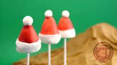 cake pop gorros de navidad