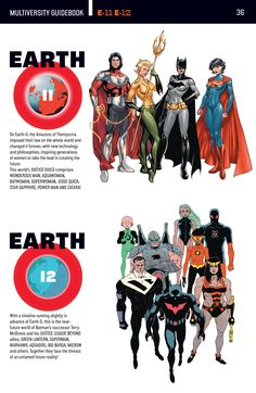 The DC Multiverse: Earth 11 and Earth 12.