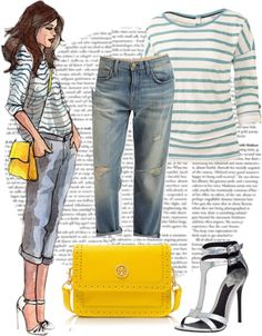 """""""Yellow bag"""" by chiclover-628 ❤ liked on Polyvore"""