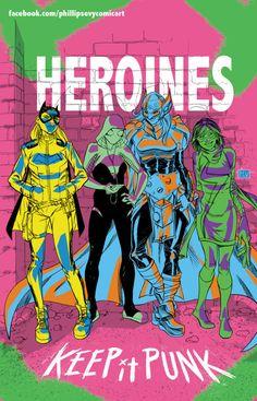 Heroines by Philip Sevy | Batgirl, Spider-Gwen, Thor, Ms. Marvel