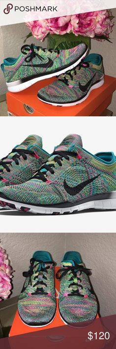 Nike free run rainbow flyknit Brand new in box Nike free run fly knit rainbow sold out color Nike Shoes Sneakers