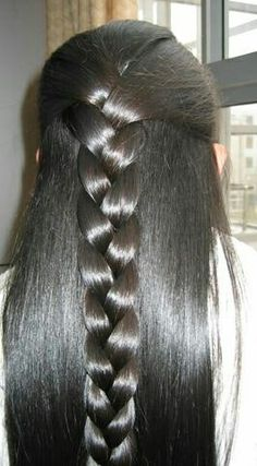 to braid hairstyles for short hair hairstyles 2018 hairstyles for hair hairstyles hairstyles quick and easy braided hairstyles for long hair hairstyles all back hairstyles to the side # Braids ponytail extensions Quick Braided Hairstyles, Braided Ponytail, Braid Hairstyles, Hairstyles 2018, 5 Braid, Braided Mohawk, Half Ponytail, Updo Hairstyle, African Hairstyles