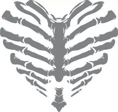 Rib Cage Heart sold by Vinyl Guru. Shop more products from Vinyl Guru on Storenvy, the home of independent small businesses all over the world. Silhouette Cameo Projects, Skull Art, Skull Stencil, Vinyl Projects, Cricut Design, Light In The Dark, Vinyl Decals, Coloring Pages, Stencils