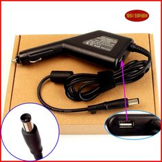 Laptop DC Power Car Adapter Charger 18.5V 3.5A 65W + USB Port for HP DV4-1120 DV4-2049WM DV4T-1000 DV4Z-1000 dv4-1430us #Affiliate