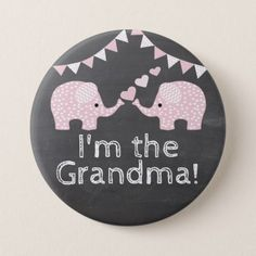Twin Girls Elephant Baby Shower | I'm The Grandma Button - baby shower ideas party babies newborn gifts