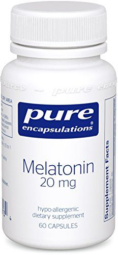 Pure Encapsulations - Melatonin 20 mg. - Hypoallergenic Supplement Supports the Body's Natural Sleep Cycle* - 60 Capsules * Read more details by clicking on the image.