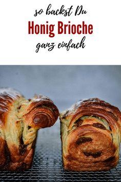 Rezept für Honig Brioche mit Kardamom - Kochen macht glücklich Sweet Bakery, White Bread, Artisan Bread, Dinner Dishes, Dinner Rolls, How To Make Bread, Party Snacks, Baking Recipes, Brunch