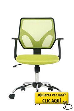 VIVA OFFICE Silla ergonómica de ordenador de malla de respaldo medio, Verde #silla #ordenador Para ver oferta,  visitenos https://cadaviernes.com/ofertas-de-sillas-de-ordenador/