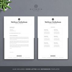 Make your resume, cover letter and references look fantastic and consistent with a modern, creative and professional resume template pack. One Page Resume Template, Modern Resume Template, Creative Resume Templates, Professional Cover Letter Template, Cover Letter For Resume, Resume References, Creative Cv, Microsoft Word 2007, Letter Templates