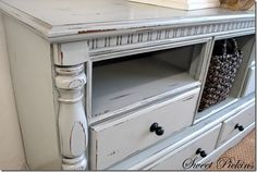 New Ideas For Bedroom Dresser Redo Tv Consoles My Furniture, Distressed Furniture, Refurbished Furniture, Repurposed Furniture, Furniture Makeover, Painted Furniture, Furniture Projects, Redoing Furniture, Dresser With Tv