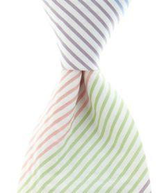 mixed color seersucker stripe tie