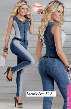 l Look Fashion, Girl Fashion, Fashion Outfits, Womens Fashion, Jean Sexy, Jeans Overall, Estilo Jeans, Jeans Jumpsuit, Sexy Jeans